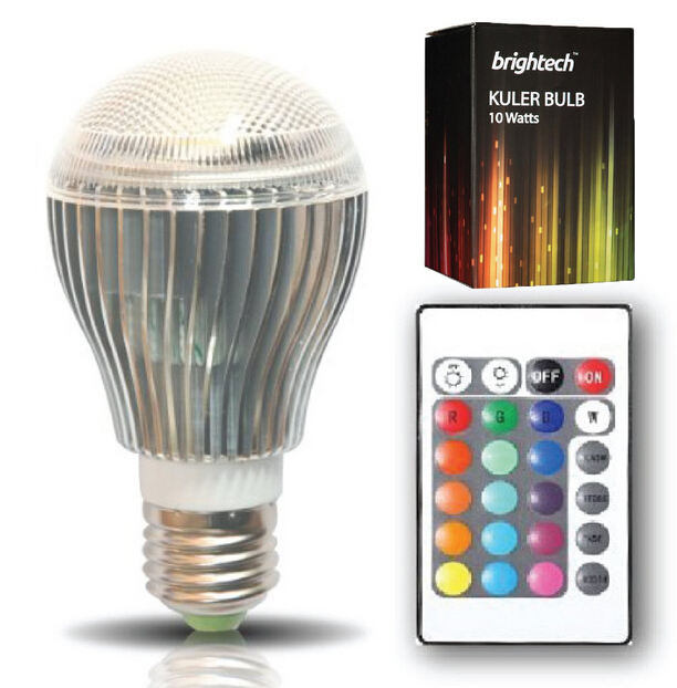 10-Watt Remote Control Color Changing LED Light Bulb