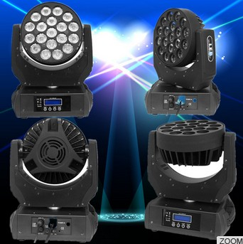 19pcs 12W 4-in-1 moving head beam LED stage light