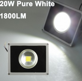 20W Pure White Waterproof LED Flood Light Lamp