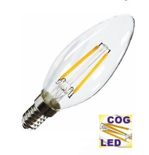 2W LED FILAMENT CANDLE BULB E14 2700K 180LM