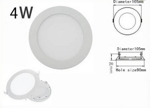 4W AC 86-265V Ultra Thin Round Ceiling LED Down Lamp