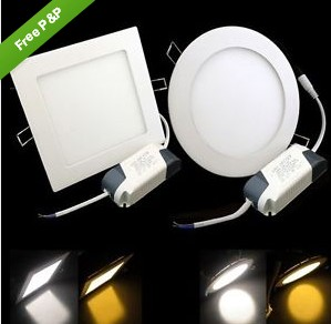 6W 9W 12W 15W 18W 21W Dimmable LED panel lights