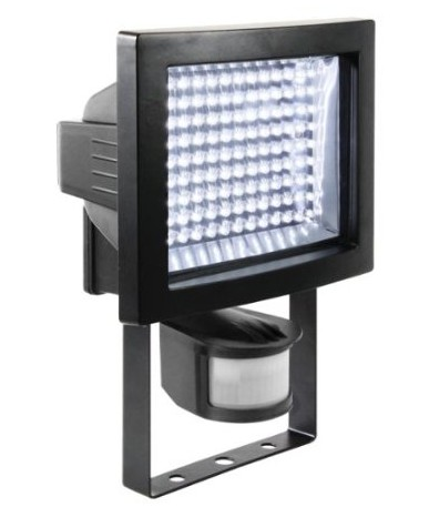 8.77 Watt 117 x LED Outdoor Floodlight in Black Aluminium
