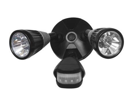 Black LED Motion-Sensing Spot Light