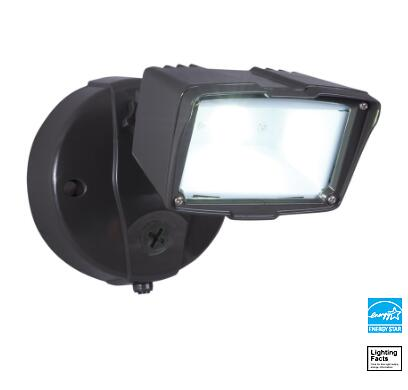 Bronze 20.5-Watt LED Dusk-To-Dawn Flood Light