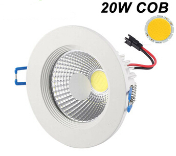 Dimmable 20W COB led downlight