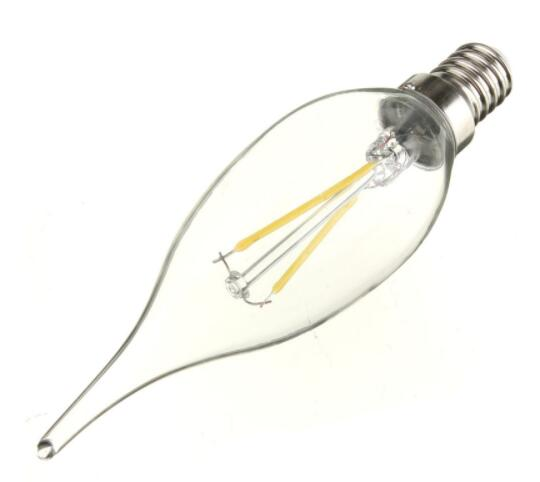 E14 2W 160LM 6500K LED Filament Candle Bulb