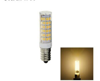 E14 8W 75-LED 2835SMD Warm White LED Corn Light