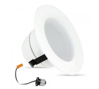 E26 120V 9.5W Dimmable 570 Lumens LED Downlight Retrofit Kit