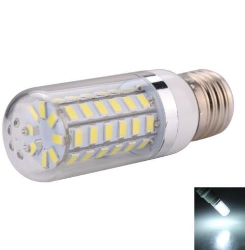 E27 10W 1000LM LED Corn Bulb with Silver-brimmed Lampshade