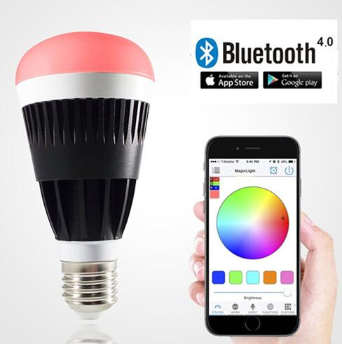 E27 10W Warm White RGB Dimmable Bluetooth LED Bulb