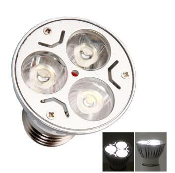 E27 3W 110V Dimmable Spotlight Silver