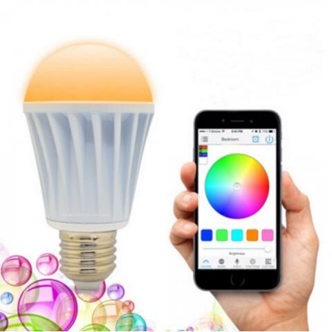 E27 7.5W Warm White RGB WiFi LED Bulb