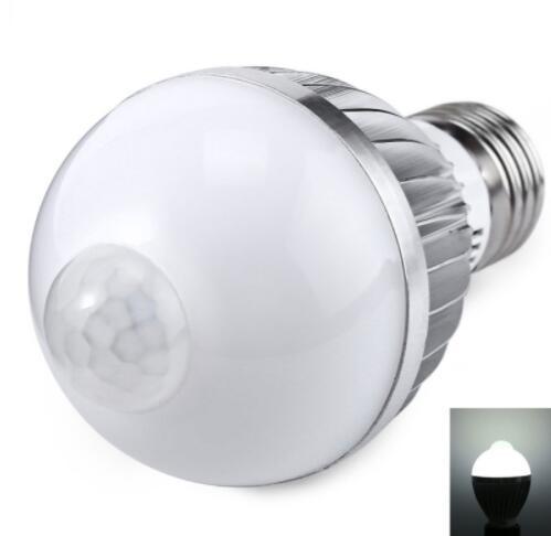 E27 7W 650LM 6000K Human Body LED Bulb