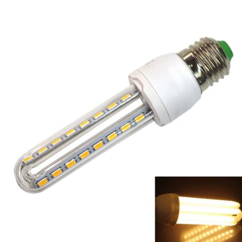 E27 8W 540LM Warm White 2 U-tube LED Corn Lamp