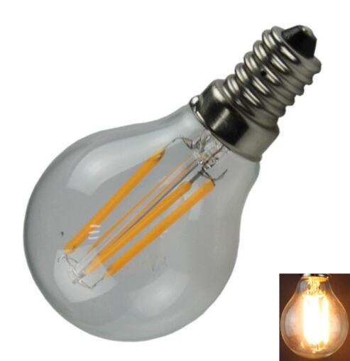 G45 E14 4W 400LM 2700K 4-LED Light Bulb