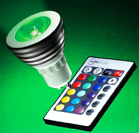 GU10 Remote Controlled Colour Changing LED Light Bulb