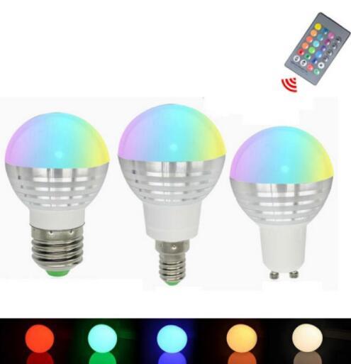 GU10 3W IR Remote Control 16 Colors LED Bulb light