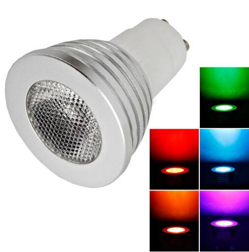 GU10 5W 100 Lumen LED Remote Control LED Spotlight