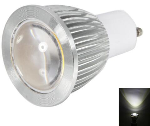 GU10 6W 270-300LM 5500-6500K Convex White COB LED Bulb