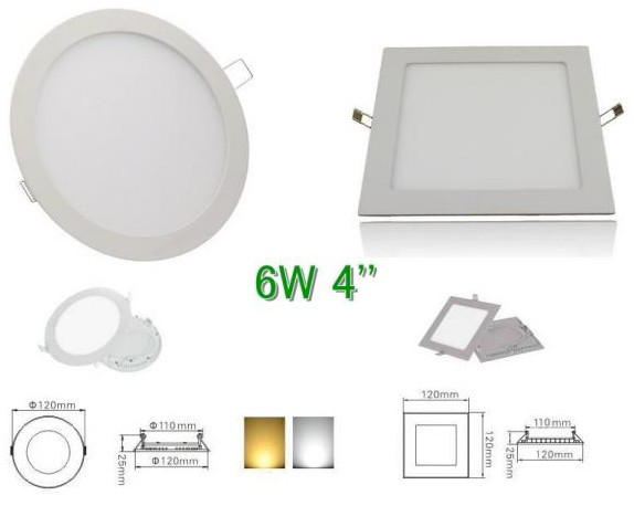 High Bright 6W-18W CREE LED Panel Lights