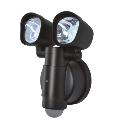 Motion-Activated  2-Head LED Flood Light