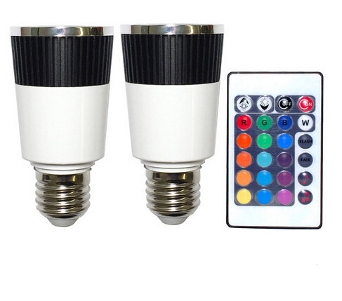 Music LED Bulb Color Changer E27 Lamps With Wireless Remote