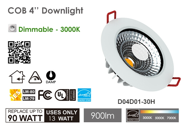 New Arrival 13W high power COB led downlight