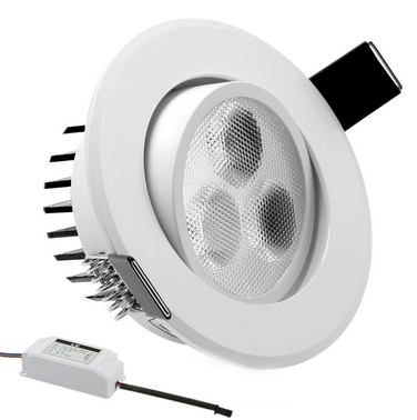 Paint White 3W 3Inch LED Downlight Daylight White