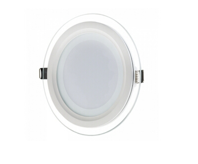 Round LED Panel Light with Edge Lit Glass Accent Light