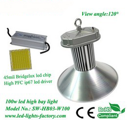 Top quality 100w led high bay light with ISE file