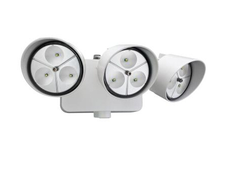Wall-Mount 3-Head Outdoor White LED Floodlight
