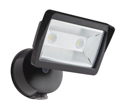 Wall-Mount Outdoor Bronze LED Mini Single-Head FloodLight