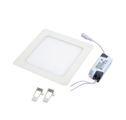 Warm White 12W 1080LM 3000K 60-SMD2835 Ultra Slim Square LED Downlight