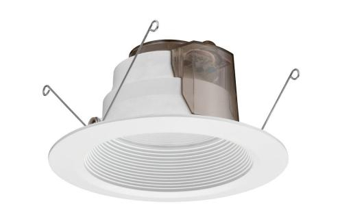 White Recessed LED High Ceiling Baffle Downlight