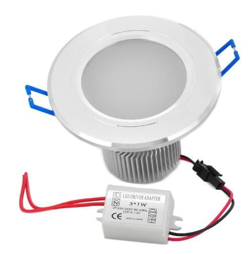 White 3W 6000K 270LM LED Downlight