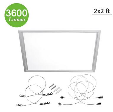 White 45W LED Flat Panel Light Square Ceiling Panel