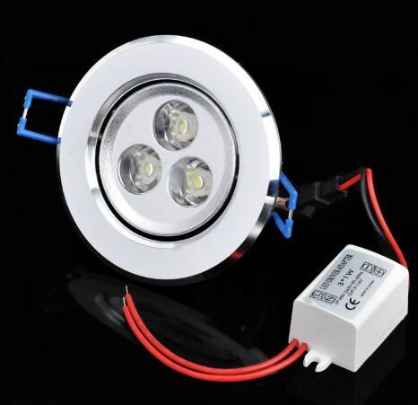 3W 6000K 300LM White LED Ceiling Lamp