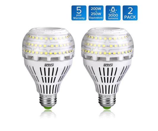 A21 22W 5000K Daylight Ceramic LED Light Bulbs