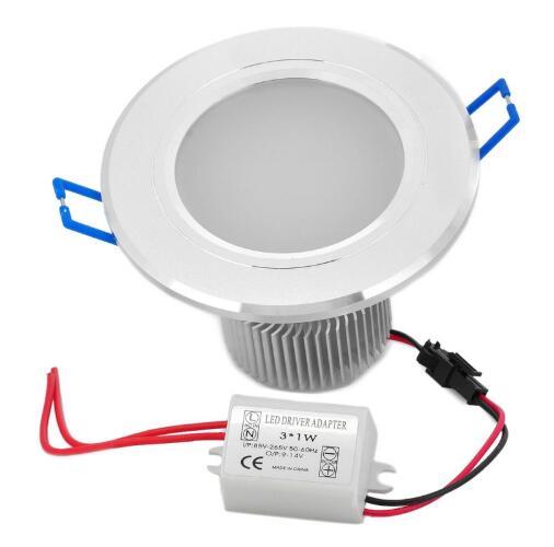 Adapter Silver 3W 6000K LED Downlight