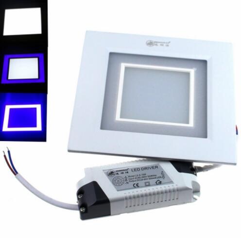 Blue 15W 1200LM 24-SMD5630 Square LED panel light