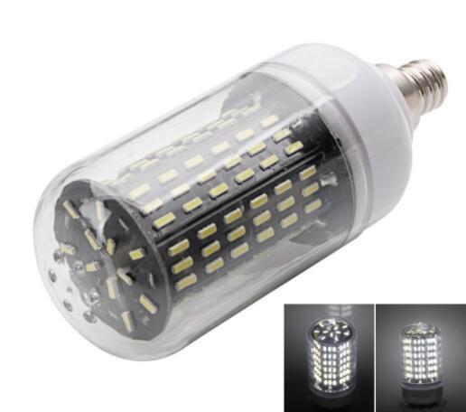 E12 15W White 138-SMD4014 LED Corn Light