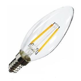 E14 2W LED filament candle bulb
