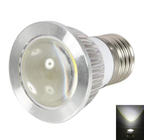 E27 3W 270-300LM Convex White COB LED Spot Light