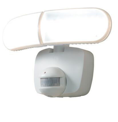Head White Solar Powered Motion LED Flood light