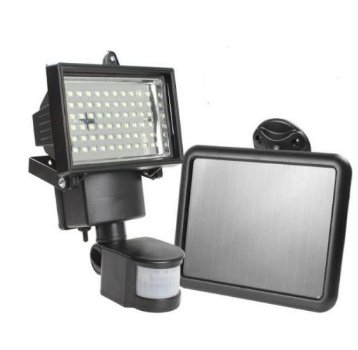 Motion Sensor Solar Power PIR Body LED Floodlight