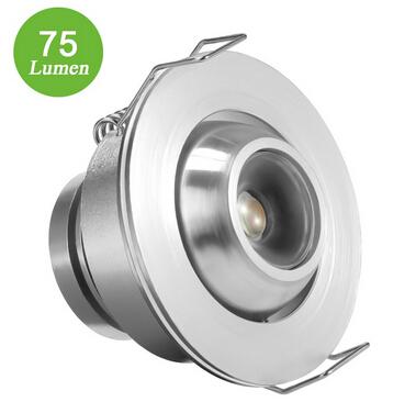 Warm White 1W LED Downlight
